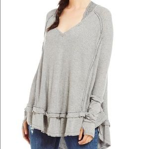 Free People (We the Free) V Neck Swing Thermal